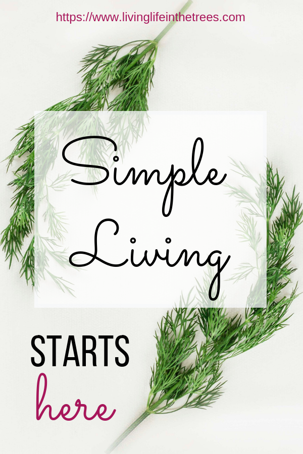 Simple Living Starts Here. Removing everything that holds me back from my real priorities. Join me on this journey. #SimpleLiving #Minimalism